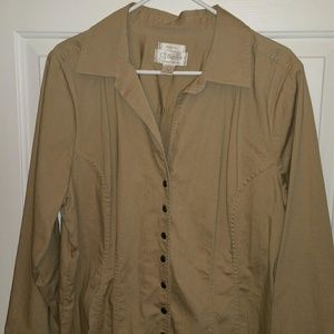 Nice conformable jacket stretch size 1x snaps for